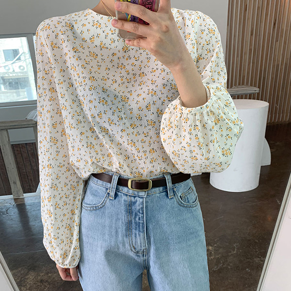 Flower Overdose Puff Blouse